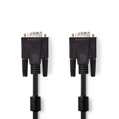 Nedis CCGP59000BK100 VGA kabel  - Zwart