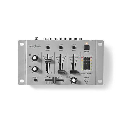 Nedis MIXD050GY Dj mixer - Zilver, Zwart