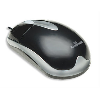 Manhattan 176989 - MH3 Classic Optical Desktop Mouse, USB, Three Buttons with Scroll Wheel, 1000 dpi, .....