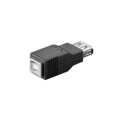 Microconnect USB A/USB B Kabel adapter - Zwart