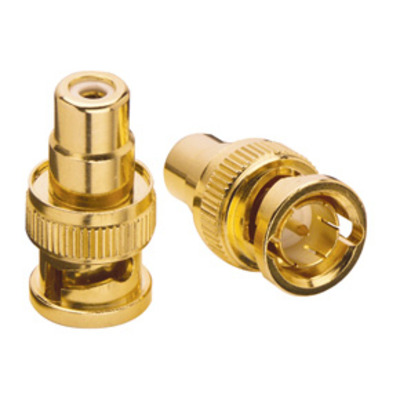 Lindy BNC Male -> Phono Female Adapter (3 Pack) Kabel connector - Goud