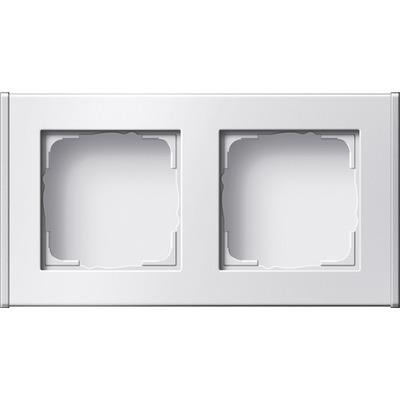 GIRA Profiel 55 voor verticale en horizontale installatie tweevoudig - Wit