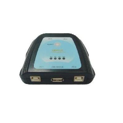 Microconnect 4 Port Manual USB Switch Hub - Zwart, Blauw