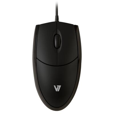 V7 Optical LED USB Mouse - black Muis - Zwart