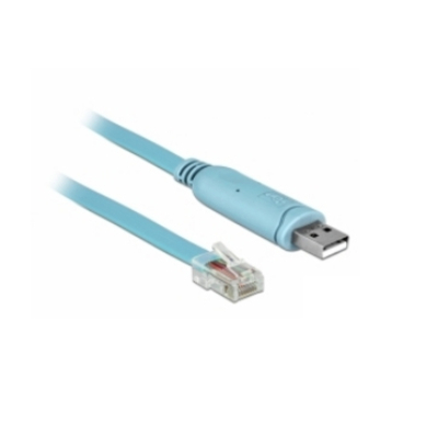 DeLOCK 1 x USB 2.0 Type-A, 1 x RS-232, RJ45, 3 m, RTS(1), DSR(2), RXD(3), GND(4), GND(5), TXD(6), DTR(7), CTS(8) .....