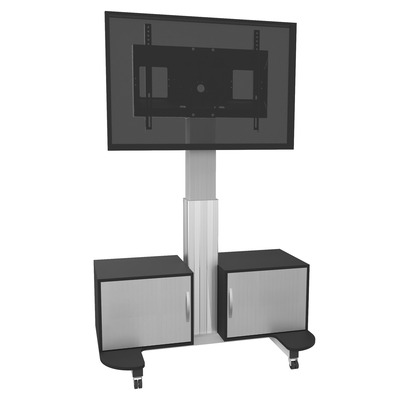 Conen Mounts Mobile TV cabinet – TV stand with mount, electrically height adjustable 42 - 86 inch monitor .....
