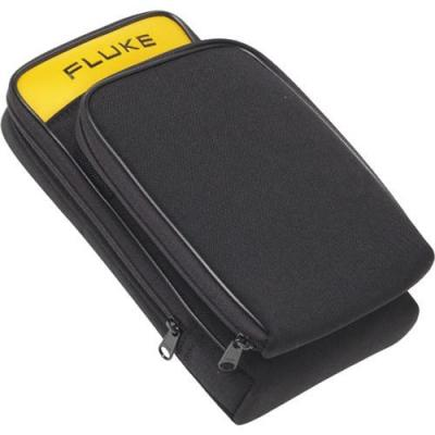 Fluke etui voor mobiele apparatuur: - Zippered carrying case with detachable external pouch, Black - Zwart