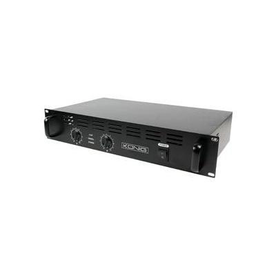 König audio versterker: 2 x 240W, 95dB(A), Zwart