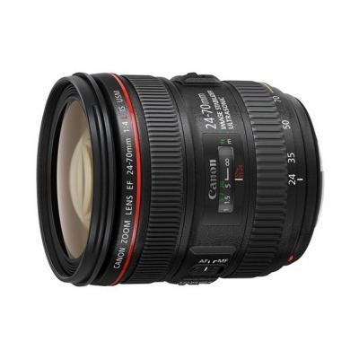 Canon camera lens: EF 24-70mm f/4L IS USM - Zwart