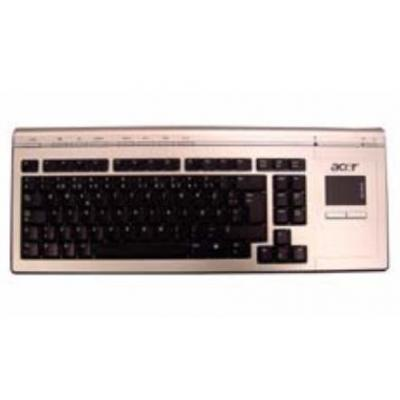 Acer toetsenbord: Keyboard (USA), RF Wireless, Silver - Zwart, Zilver, QWERTY