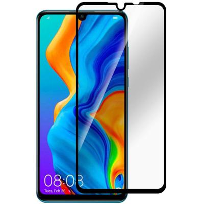 ESTUFF Huawei P30 Lite Full Cover Bla Screen protector - Zwart,Transparant
