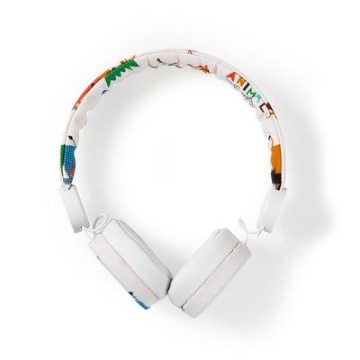 Nedis Bedrade Koptelefoon, 1,2 m Ronde Kabel, On-Ear, Safari, Wit Headset