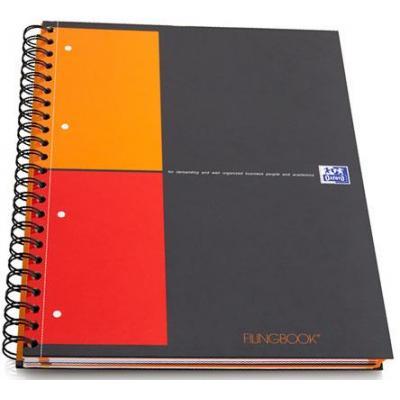Elba schrijfblok: Filing Book - Zwart, Oranje, Rood