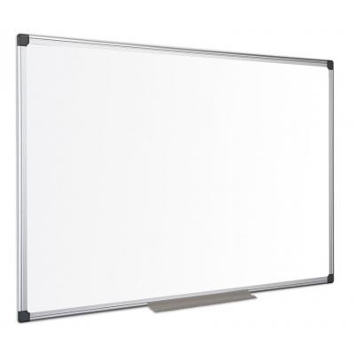 Bi-Office Maya Lacquered Steel Aluminium Framed Whiteboard - Wit