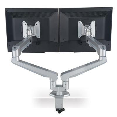ROLINE Dual LCD Monitor Stand Pneumatic, Desk Clamp, Pivot 2 Joints Monitorarm