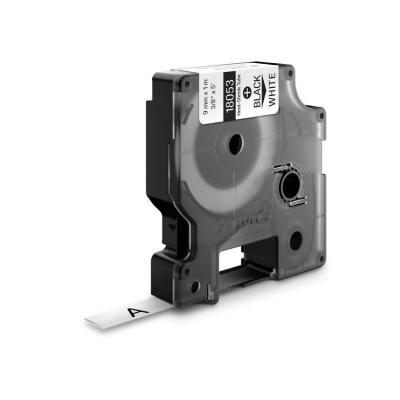 Dymo labelprinter tape: 9mm RhinoPRO Heat shrink tubes - Zwart op wit