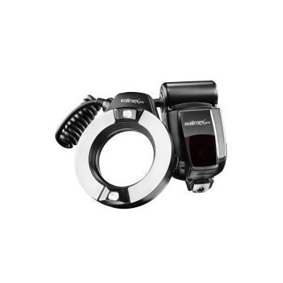 Walimex camera flitser: Macro Ring Flash - Zwart, Zilver