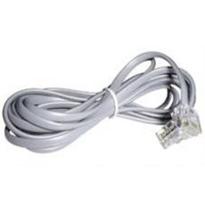 Lindy RJ-10 4/4 Cable, 3m Telefoon kabel - Grijs