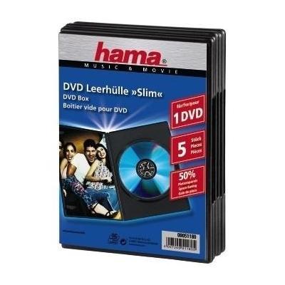 Hama : DVD Slim Box 5, Black  - Zwart