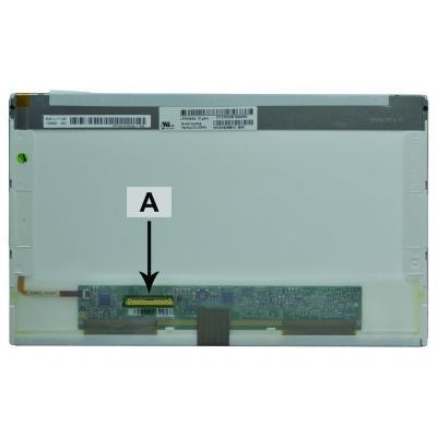 2-power notebook reserve-onderdeel: 10.1 WSVGA 1024x600 LED Glossy Asus EEE PC 1011PX-BLK070S - Zwart