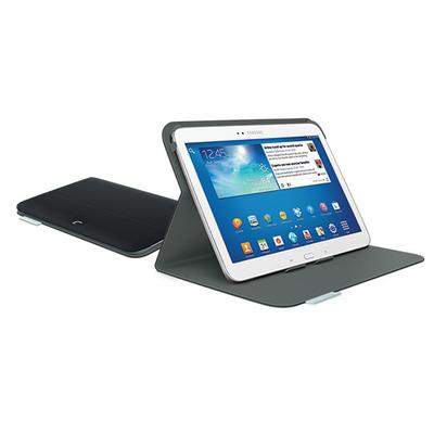 Logitech tablet case: Folio Protective Case, Samsung Galaxy Tab 3 10.1 - Zwart, Koolstof
