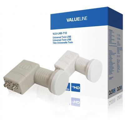Valueline low noise block downconverters: Universele twin LNB voor 2x TV 0.3 dB