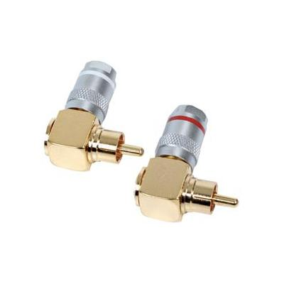 Hq coaxconnector: High end 90° angle RCA audio plugs