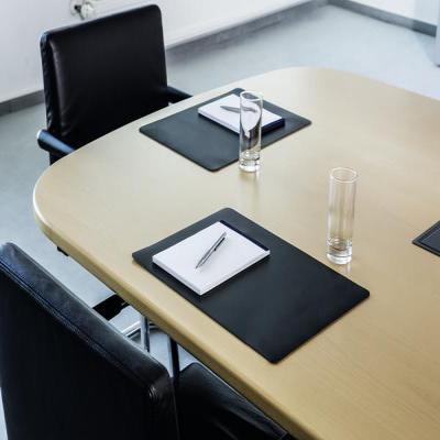 Durable bureaulegger: Schrijfonderlegger voor vergaderzalen, zwart, 420 x 300 mm