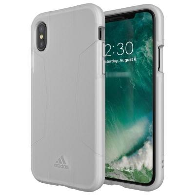 Adidas mobile phone case: Apple iPhone X, Cover - Wit