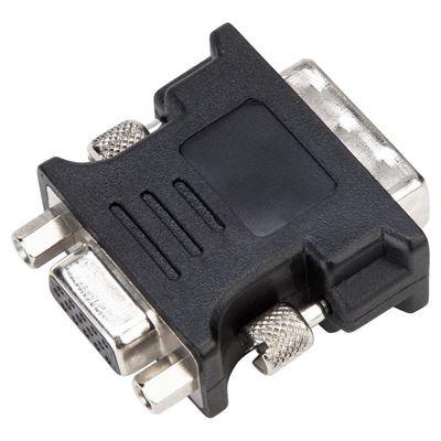 Targus DVI-I M - VGA F, Black Kabel adapter - Zwart