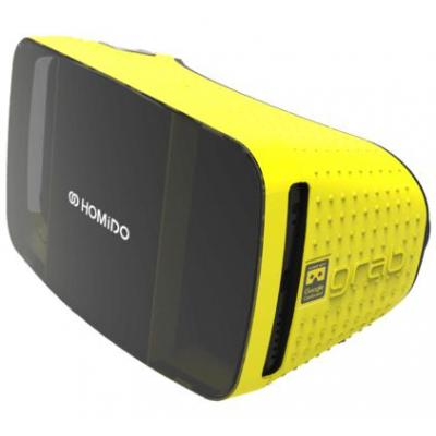 Homido virtual reality bril: Grab - Zwart, Geel