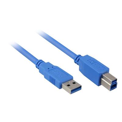 Sharkoon USB 3.0 A-B USB kabel - Blauw