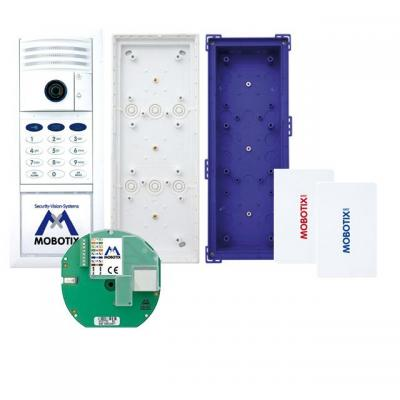 Mobotix deurintercom installatie: Complete Kit No. 1 with Keypad, White