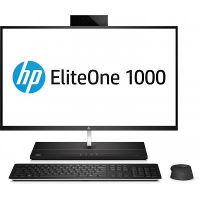 Hp all-in-one pc: EliteOne EliteOne 1000 G1 - Zwart, Zilver (Demo model)