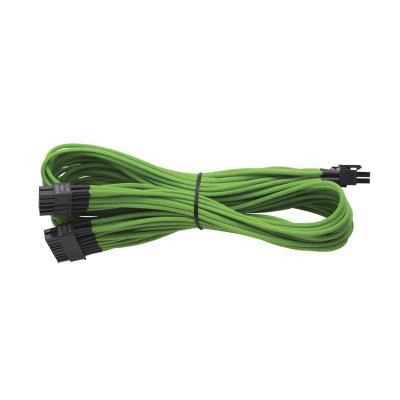 Corsair electriciteitssnoer: Individually Sleeved AX 860/760 ATX 24pin (Generation 2), GREEN - Zwart, Groen