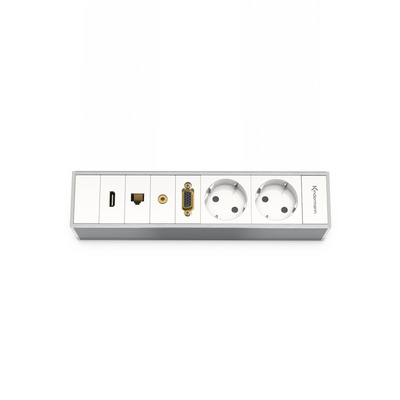 Kindermann 7449000220 Inbouweenheid - Aluminium, Wit