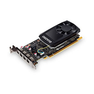Lenovo ThinkStation Nvidia Quadro P1000 4GB GDDR5 Mini DP, 4 Graphics Card With HP Bracket Videokaart - Zwart