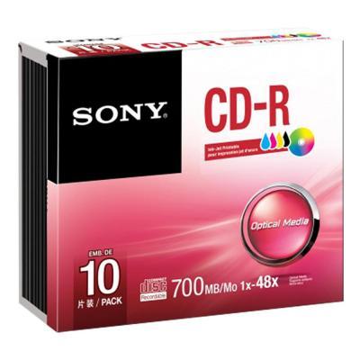Sony 10-pak bedrukbare discs in jewel case Deze bedrukbare's zijn helemaal aan uw wensen aan te passen. Geef uw .....