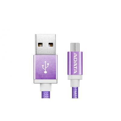 Adata USB kabel: 1m, USB2.0-A/USB2.0 Micro-B - Paars