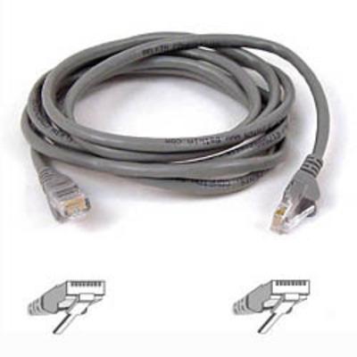 Belkin Cable patch CAT5 RJ45 snagless 2m grey Netwerkkabel - Grijs