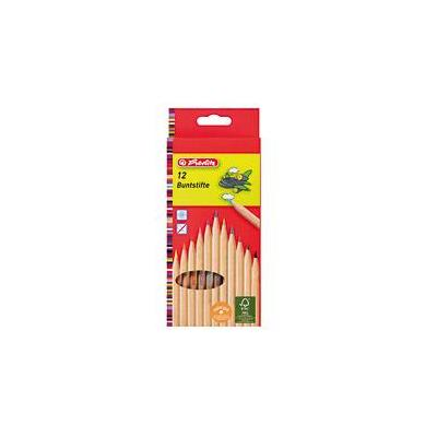 Herlitz coloured pencils natural 12 pieces FSC set - Hout