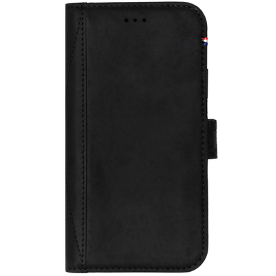 Decoded Leather Wallet Booktype iPhone Xr - Zwart / Black Mobile phone case