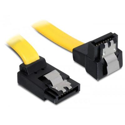 Delock ATA kabel: 0.2m SATA M/M - Geel