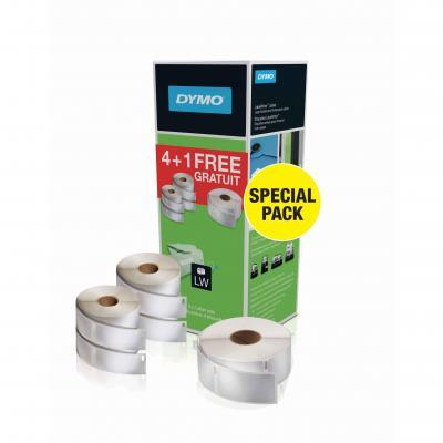 Dymo etiket: LabelWriter Etiketten bundel - Zwart, Wit