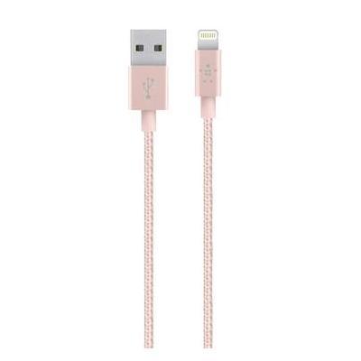 Belkin kabel: Metallic Lightning/USB-kabel - Roze