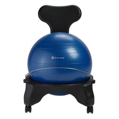 Gaiam fitness, gymnastiek & gewichtstraining: Balance Ball Stoel - Blauw