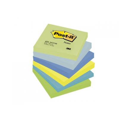 Post-it zelfklevend notitiepapier: Notitieblok Dream 76x76mm ass/pak 6x100