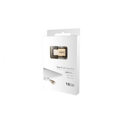 Adata USB flash drive: UC350 16GB - Goud
