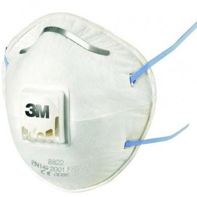 3m masker: Fijnstofmasker in cupvorm - Wit