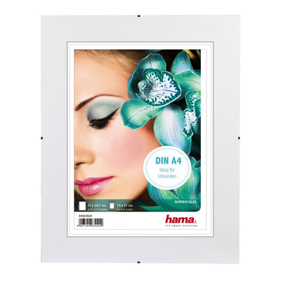 "Hama Frameless Picture Holder ""Clip-Fix"", normal glass, 21 x 29.7 cm Fotolijst - Transparant"